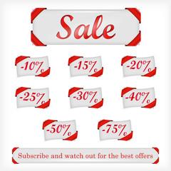 Illustration of sale offers