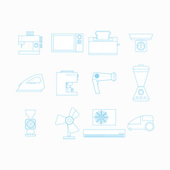 Icons for household appliances