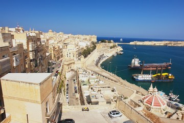View from the Valleta of the Grand Harbour