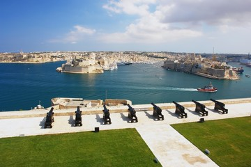 View from the Valleta of the Grand Harbour, Malta