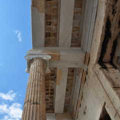 ionic column and ceiling acropolis