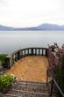 Terrace above the lake Maggiore color image