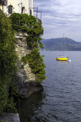 Cannero Riviera, Lake Maggiore view from the marina color image