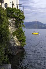 Cannero Riviera, Lake Maggiore view from the marina color image