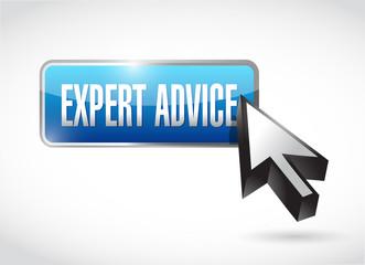expert advice button illustration design