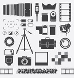 Vector Set: Photography and Camera Objects poster