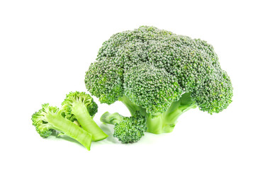 Broccoli isolated on a white