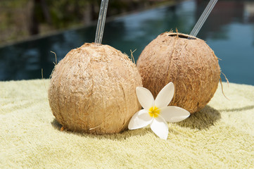 Poolside Coconut Water Drinks