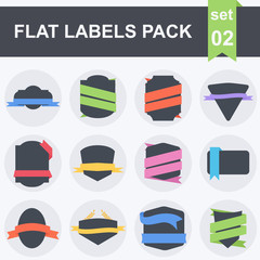 Vector Stickers and Badges. Flat Style
