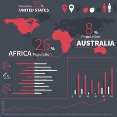 Flat ui design infographic template