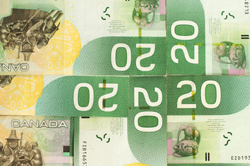 Green bank notes  forming a nice background