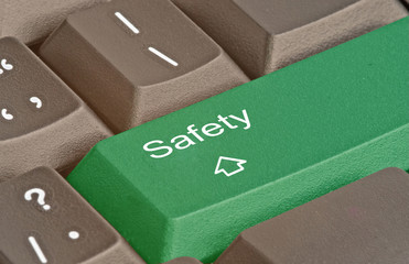 Keyboard with key for safety