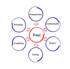 Diagram of trust