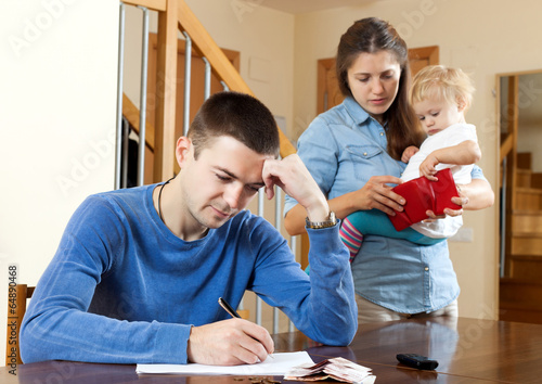 Financial problems in family. - 64890468