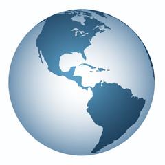 Yer küre  (Amerika  Kıtası )