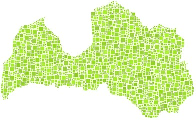 Isolated map of Latvia - Europe -