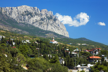 View on the mountain Ai-Petri and town Simeiz, Crimea