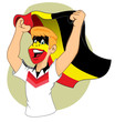 German supporter vibrating