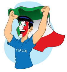 Italian supporter vibrating
