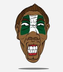 football fan from Nigeria