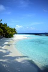 Beautiful beach in the Maldives