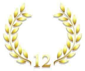 Lauriers anniversaire 12