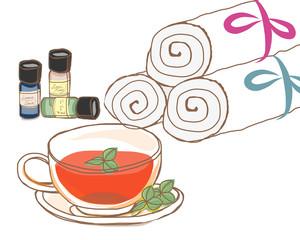 紅茶とアロマオイルとタオルセット