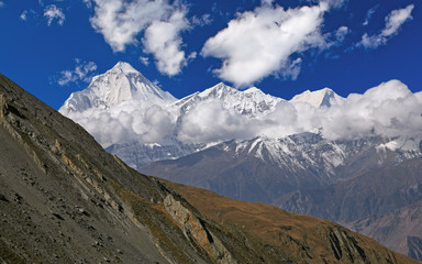 Picturesque view of Dhaulagiri peak (8167 m).
