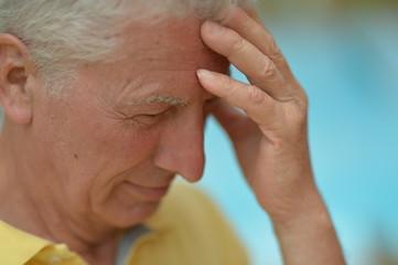 Thinking man at the resort