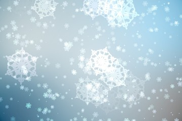 Digitally generated delicate snowflake design