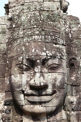 bayon face in ankor thom cambodia