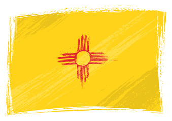 Grunge New Mexico flag