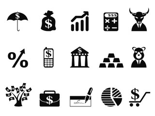 investing and Finance icons set