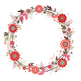 Fototapety vector flowers decorative wreath