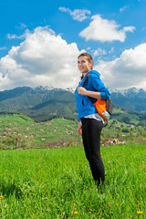 Portrait of woman hiking