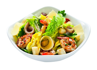 Caesar salad , saved clipping path