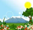 beauty landscape background for you design