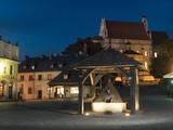 Kazimierz Dolny town square by night