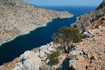 Fjord near oasis Vathi on Kalymnos island