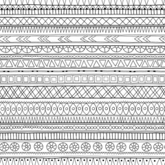 Original tribal doddle ethnic pattern.