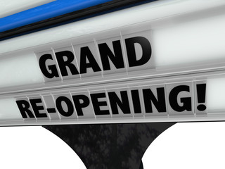 Grand Re-Opening Business New Look Refresh Remodel