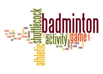 Badminton word cloud