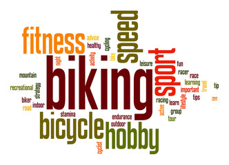 Biking word cloud