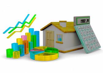 Home Finances Concept - 3D