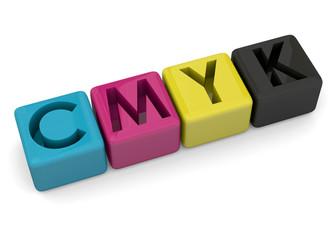 CMYK concept - 3D