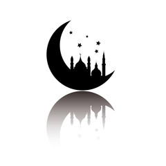 Abstract arabic icon isolated on white background, vector