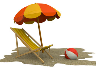 Summer on the Beach - 3D