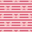 Tile vector pink bows on red strips background pattern