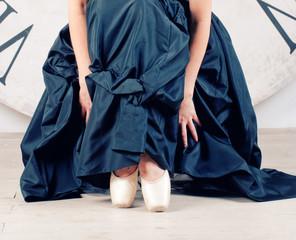 ballerina in black dress