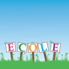 Ecole-pancarte